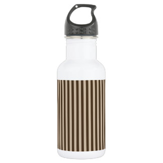 Thin Stripes - Light Brown and Dark Brown 532 Ml Water Bottle