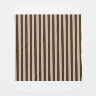 Thin Stripes - Light Brown and Dark Brown Baby Blanket