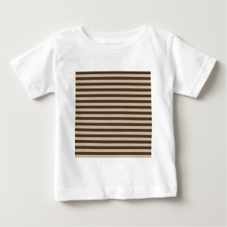 Thin Stripes - Light Brown and Dark Brown Baby T-Shirt