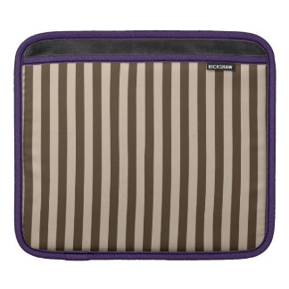 Thin Stripes - Light Brown and Dark Brown iPad Sleeve