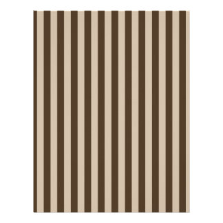 Thin Stripes - Light Brown and Dark Brown Letterhead