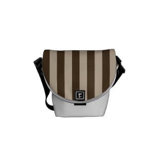 Thin Stripes - Light Brown and Dark Brown Messenger Bags