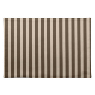 Thin Stripes - Light Brown and Dark Brown Placemat
