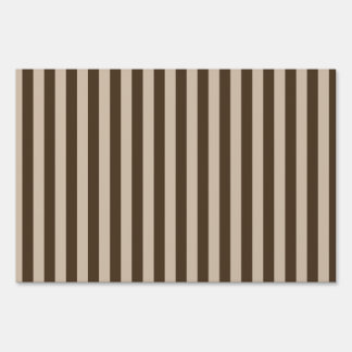 Thin Stripes - Light Brown and Dark Brown Sign