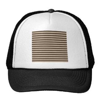 Thin Stripes - Light Brown and Dark Brown Trucker Hat