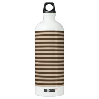 Thin Stripes - Light Brown and Dark Brown Water Bottle