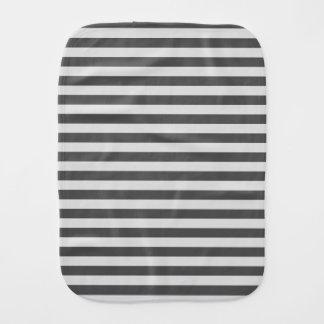 Thin Stripes - Light Gray and Dark Gray Burp Cloth
