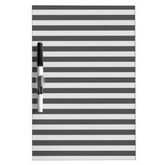 Thin Stripes - Light Gray and Dark Gray Dry-Erase Whiteboards