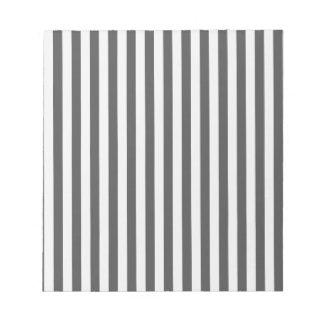 Thin Stripes - Light Gray and Dark Gray Notepad