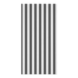 Thin Stripes - Light Gray and Dark Gray Picture Card