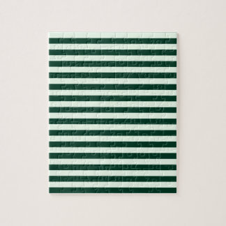 Thin Stripes - Light Green and Dark Green Puzzle