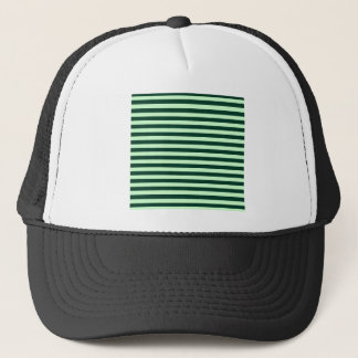 Thin Stripes - Light Green and Dark Green Trucker Hat
