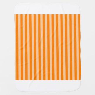 Thin Stripes - Light Orange and Dark Orange Baby Blanket