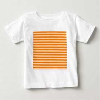 Thin Stripes - Light Orange and Dark Orange Baby T-Shirt