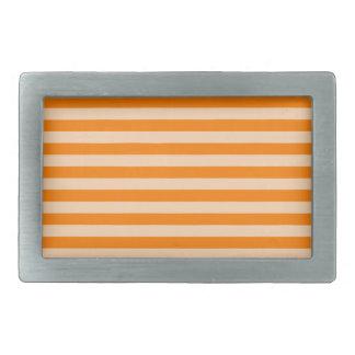 Thin Stripes - Light Orange and Dark Orange Belt Buckles