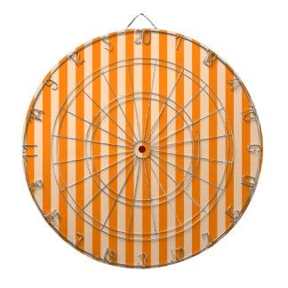Thin Stripes - Light Orange and Dark Orange Dartboard