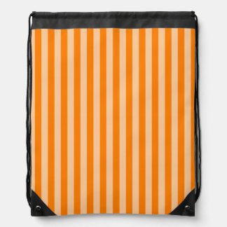 Thin Stripes - Light Orange and Dark Orange Drawstring Bag