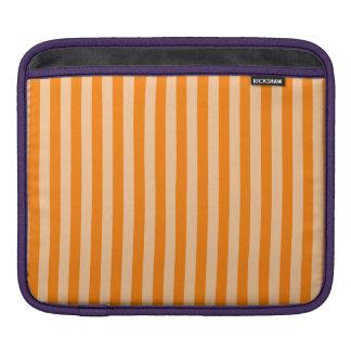 Thin Stripes - Light Orange and Dark Orange iPad Sleeve
