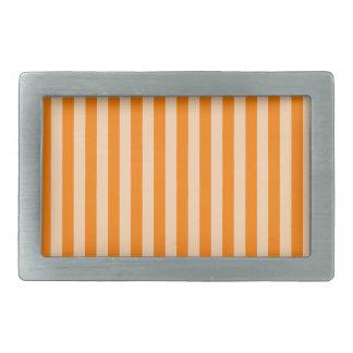 Thin Stripes - Light Orange and Dark Orange Rectangular Belt Buckles
