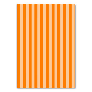 Thin Stripes - Light Orange and Dark Orange Table Cards