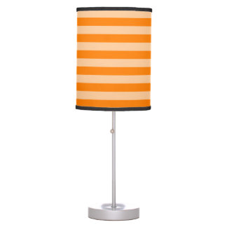 Thin Stripes - Light Orange and Dark Orange Table Lamp