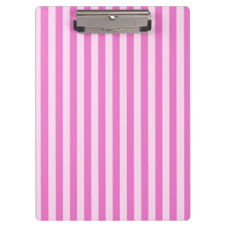 Thin Stripes - Light Pink and Dark Pink Clipboard