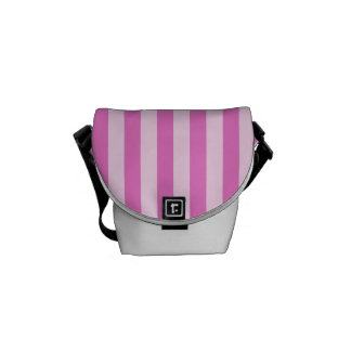 Thin Stripes - Light Pink and Dark Pink Courier Bag