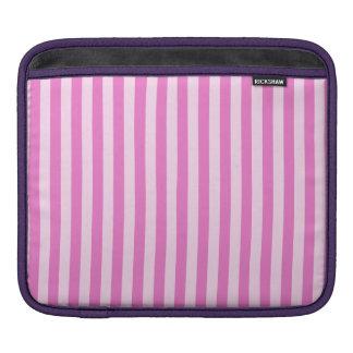 Thin Stripes - Light Pink and Dark Pink iPad Sleeve