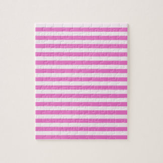 Thin Stripes - Light Pink and Dark Pink Jigsaw Puzzle