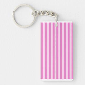 Thin Stripes - Light Pink and Dark Pink Keychain