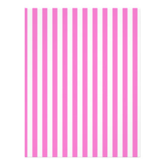Thin Stripes - Light Pink and Dark Pink Letterhead