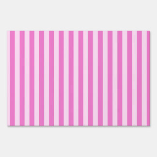 Thin Stripes - Light Pink and Dark Pink Sign
