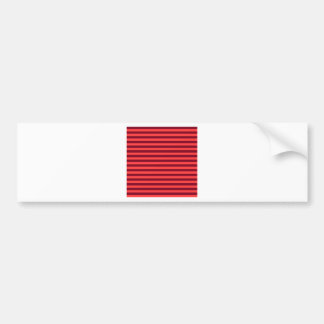 Thin Stripes - Light Red and Dark Red Bumper Sticker