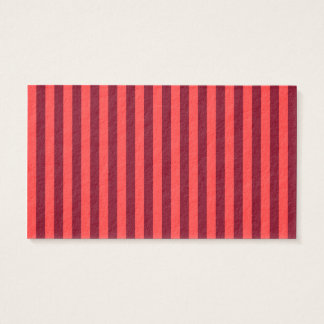 Thin Stripes - Light Red and Dark Red Business Card