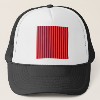 Thin Stripes - Light Red and Dark Red Trucker Hat