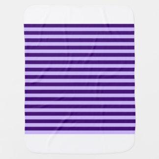 Thin Stripes - Light Violet and Dark Violet Baby Blanket