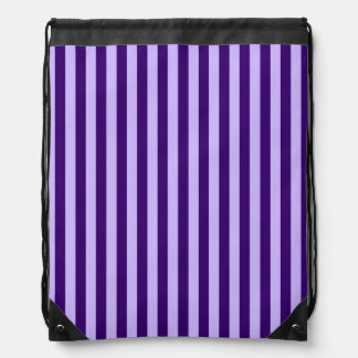 Thin Stripes - Light Violet and Dark Violet Drawstring Bag