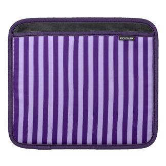 Thin Stripes - Light Violet and Dark Violet iPad Sleeves