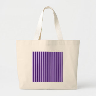 Thin Stripes - Light Violet and Dark Violet Large Tote Bag