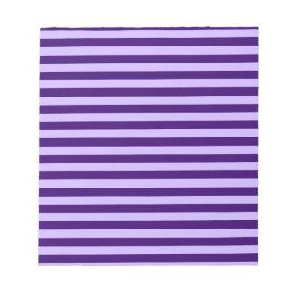Thin Stripes - Light Violet and Dark Violet Notepad