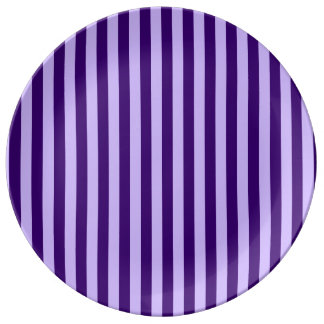 Thin Stripes - Light Violet and Dark Violet Plate
