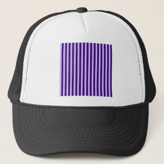 Thin Stripes - Light Violet and Dark Violet Trucker Hat