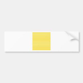 Thin Stripes - Light Yellow and Dark Yellow Bumper Sticker