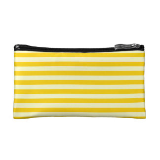 Thin Stripes - Light Yellow and Dark Yellow Cosmetic Bags