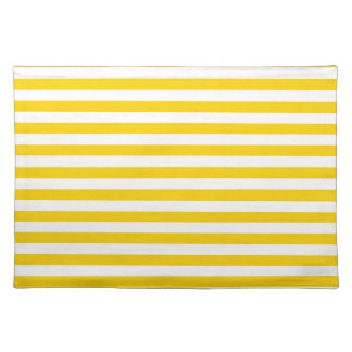 Thin Stripes - Light Yellow and Dark Yellow Placemat