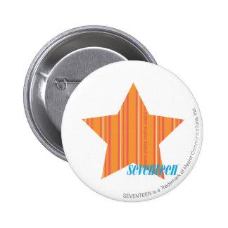 Thin Stripes Orange 4 2 Inch Round Button