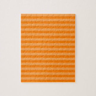 Thin Stripes - Orange and Dark Orange Jigsaw Puzzle
