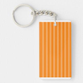 Thin Stripes - Orange and Dark Orange Keychain