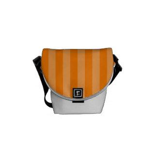 Thin Stripes - Orange and Dark Orange Messenger Bags