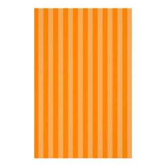 Thin Stripes - Orange and Dark Orange Stationery